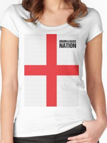 DRUM AND BASS NATION Women's Fitted Scoop T-Shirt