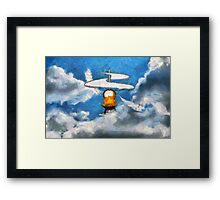 A digital painting of the Aerial Screw, flying machine Framed Print