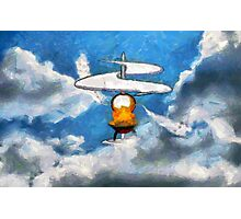 A digital painting of the Aerial Screw, flying machine Photographic Print