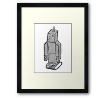 robo sad  Framed Print