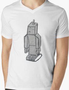 robo sad  Mens V-Neck T-Shirt