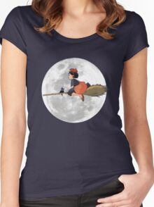 Kiki's Delivery Service (1989) Women's Fitted Scoop T-Shirt
