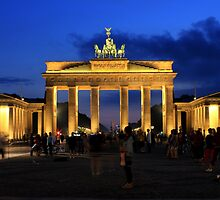 Berlin, Brandenburg Gate in the Blue Hour by neb-photography