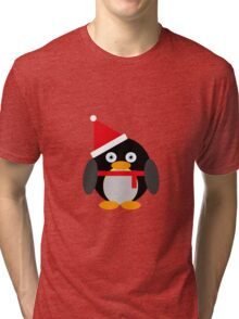 Festive Penguin Tri-blend T-Shirt