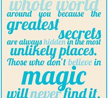 Roald Dahl / The Minpins Quote by Emily Farquharson