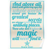 Roald Dahl / The Minpins Quote Poster