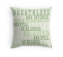 Wind in the Willows / Kenneth Graham Quote Throw Pillow