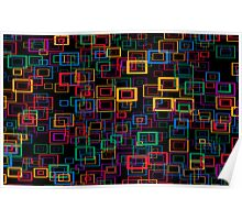 Colorful Squares Poster