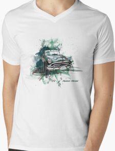 Hudson Hornet Mens V-Neck T-Shirt