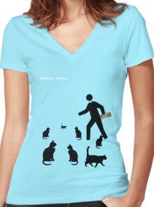 Dyslexic Preist Women's Fitted V-Neck T-Shirt
