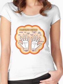 The player's hands. Women's Fitted Scoop T-Shirt