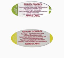 Vintage Boots Quality Control Photo Advice Stickers by altair4