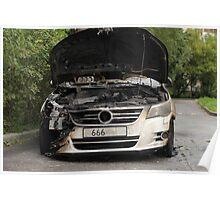 VW burned Poster