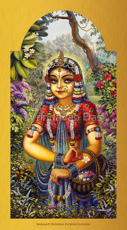 Shrimati Radhika picking flowers by Vrindavan Das