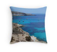 Lampedusa gulf Throw Pillow