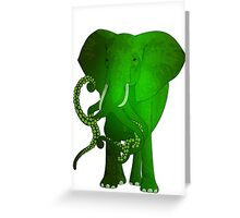 evolution of the elephant Greeting Card