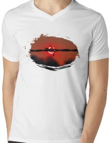 Fire wire Mens V-Neck T-Shirt