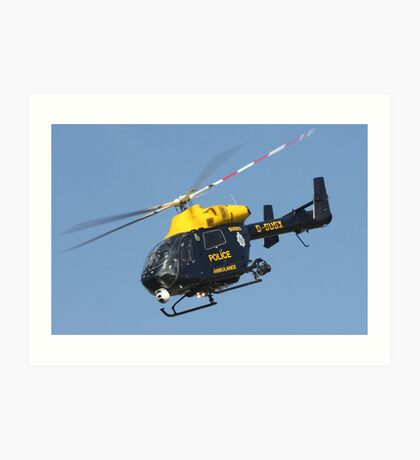 The Sussex police helicopter Art Print