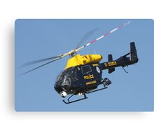 The Sussex police helicopter Canvas Print