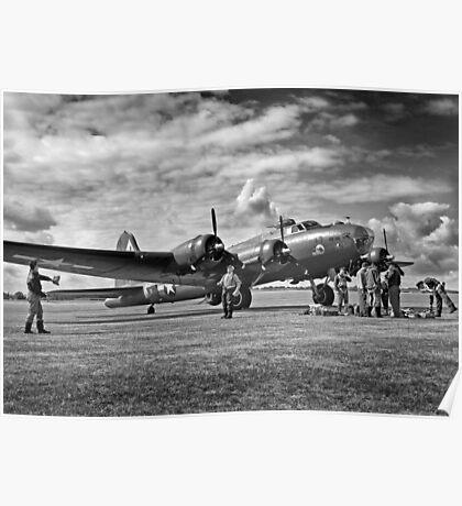 B17 WW2 Bomber Poster