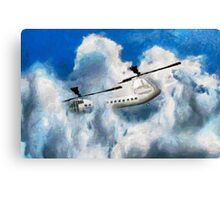 A digital painting of my vector drawing of a Chinook Type Helicopter Canvas Print