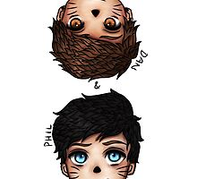 Anime Dan and Phil by leesepuffs