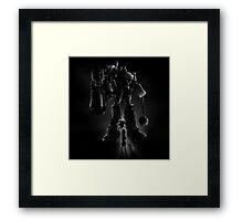 Megatron and Girl Framed Print