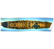 Narrabeen Reflections - Narrabeen Lakes, Sydney, Australia - The HDR Experience Poster