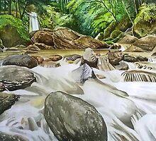 Sibanjan Falls by Rodel Camacho