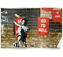 Go to Hell by Banksy Poster