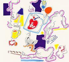 Night Drawings - Les Dessins de Nuit n°41  -  Heart(h) by Pascale Baud