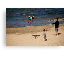 Me, Dad And Fun In The Sun! Canvas Print