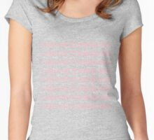 Hotline Bling Pink Women's Fitted Scoop T-Shirt