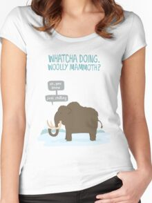 Whatcha doing, wooly mammoth? Women's Fitted Scoop T-Shirt