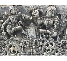 Halebidu sculpture Photographic Print