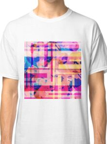 Watercolor and stripes Classic T-Shirt