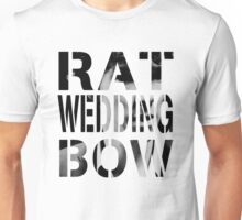 Rat. Wedding. Bow. Unisex T-Shirt