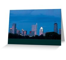 Austin Skyline at dusk from Zilker Park lawn Greeting Card