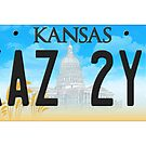 Supernatural Kansas Impala Plate by Kate H