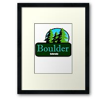 Boulder Colorado t shirt truck stop novelty Framed Print