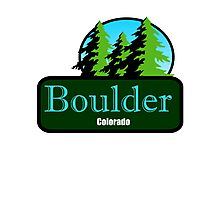 Boulder Colorado t shirt truck stop novelty Photographic Print