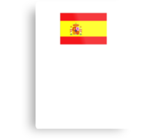 Spanish Flag spain yellow t shirt Metal Print