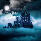 Moonlight on Whitby Abbey by SpinningAngel