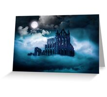 Moonlight on Whitby Abbey Greeting Card