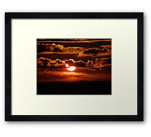1795 Peeking through the clouds Framed Print
