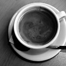 Americano - From Above - B&W by rsangsterkelly
