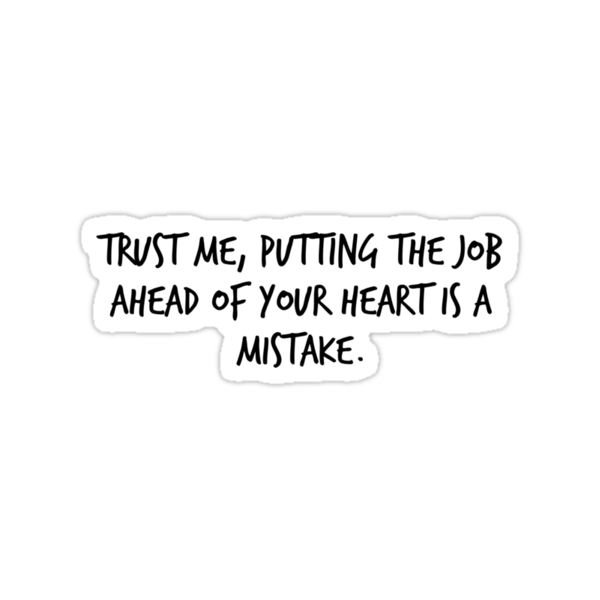 """Mike Royce's letter: """"Trust me, putting the job ahead of your heart is a mistake."""" by Carmen Garpe"""