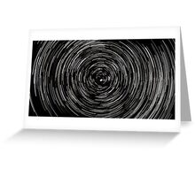 Startrails, Polaris at center Greeting Card