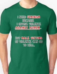 I need feminism because I oppose violence against women T-Shirt
