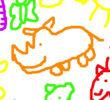 A Kid's Zoo Sticker
